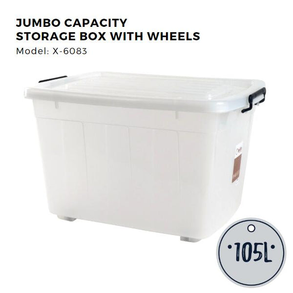 Citylife Jumbo Storage Container with Wheels - 105L - X6083