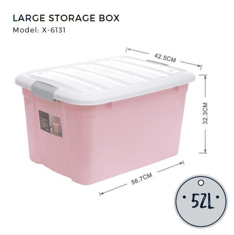 2 DAY SPECIAL- BUNDLE OF 3 Citylife Large Storage Container - 52L - X6131