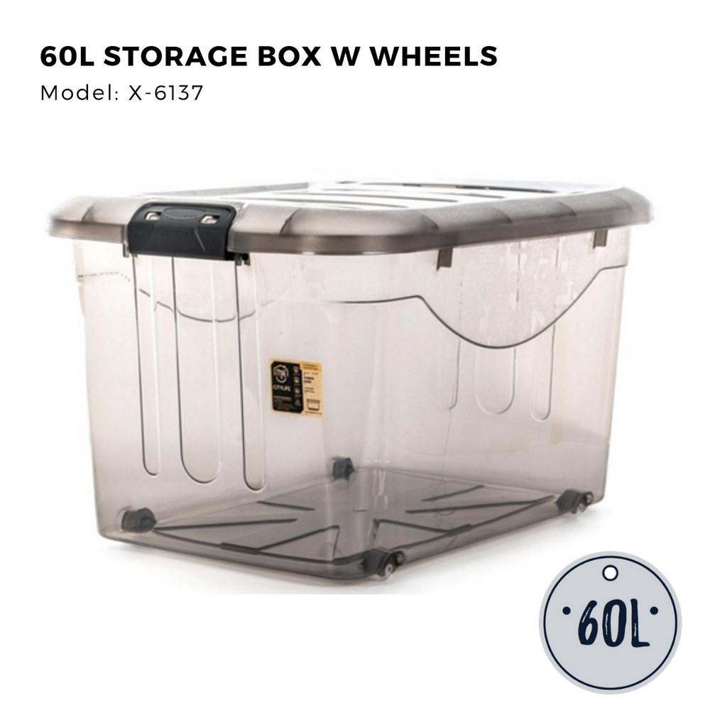 Citylife Storage Box with Wheels - 60L - X6137