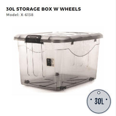 Citylife Storage Box with Wheels - 30L - X6138
