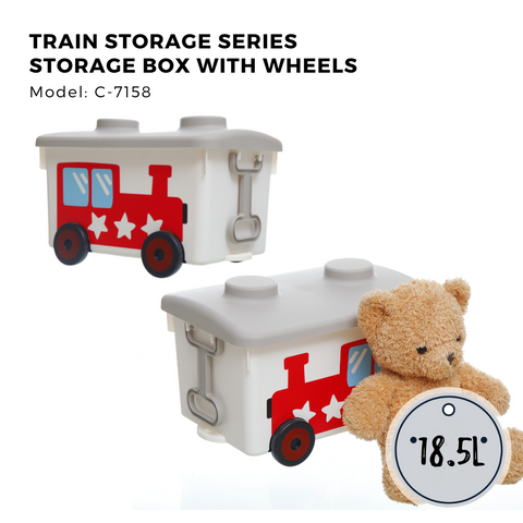 Citylife Train Storage Box with Wheels - 18.5L - C7158