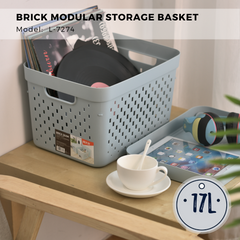 Citylife Brick Modular Storage Basket - Large Size 17L - L7274 (1 Piece)