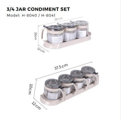 Citylife 3 or 4 Jar Condiment Set - H8040/8041