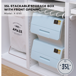 Citylife Stack-able Storage Box with Front Opening - 35L