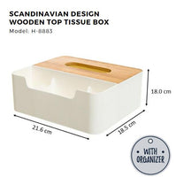 Citylife Wooden Top Tissue Box Toilet Roll Holder - H8883/8886/8884
