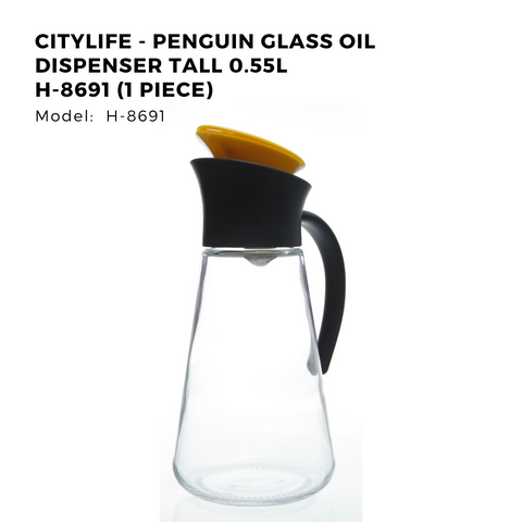 Citylife - Penguin Glass Oil Dispenser Tall 0.55L H-8691 (1 Piece)