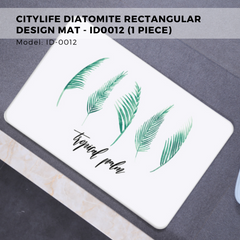 Citylife Diatomite Rectangular Design Mat - ID0012 (1 Piece)