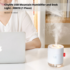 Citylife USB Mountain Humidifier and Desk Light - IE0010 (1 Piece)
