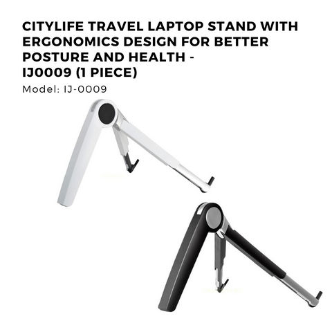 Citylife Travel Laptop Stand With Ergonomics design for better posture and health - IJ0009 (1 Piece)
