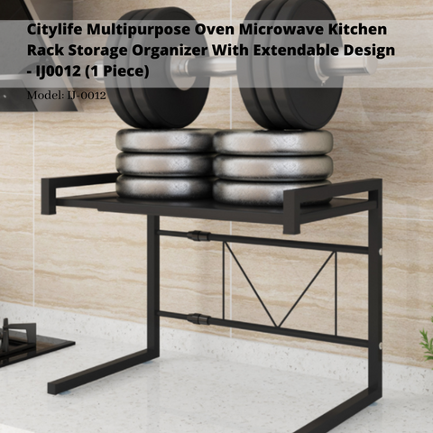 Citylife Multipurpose Oven Microwave Kitchen Rack Storage Organizer With Extendable Design - IJ0012 (1 Piece)