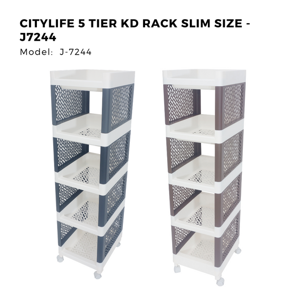 Citylife 5 Tier KD Rack Slim Size - J7244