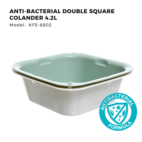 Citylife Anti-Bacterial Double Square Colander 4.2L KFS-8802 (1 Piece)