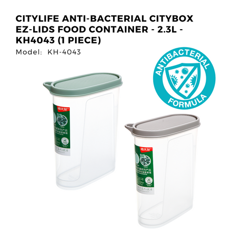 Citylife Anti-Bacterial Citybox EZ-Lids Food Container - 2.3L - KH4043 (1 Piece)