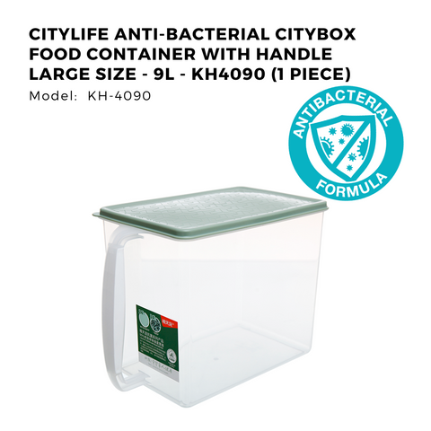 Citylife Anti-Bacterial Citybox Food Container with Handle Large Size - 9L - KH4090 (1 Piece)