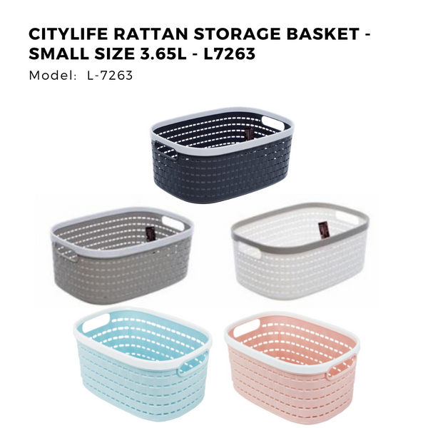 Citylife Rattan Storage Basket - Small Size 3.65L - L7263