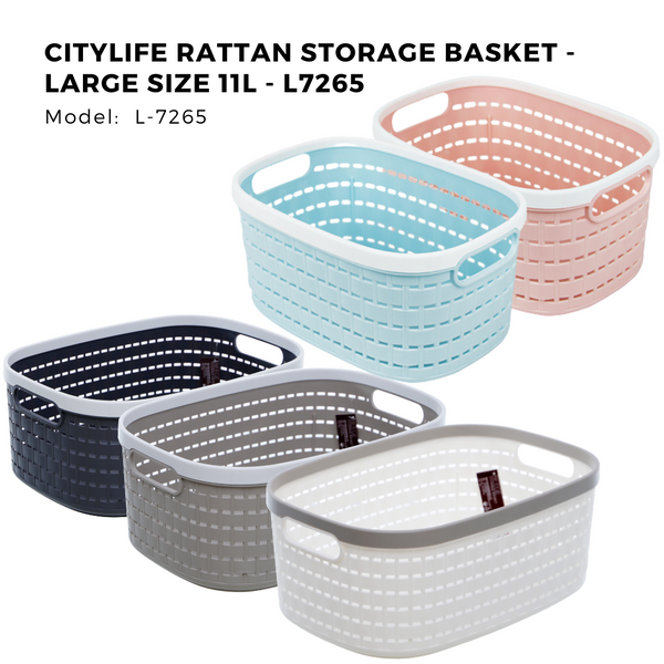 Citylife Rattan Storage Basket - Large Size 11L - L7265