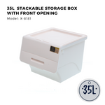 Citylife Stackable Storage Box with Front Opening - 35L - X8181