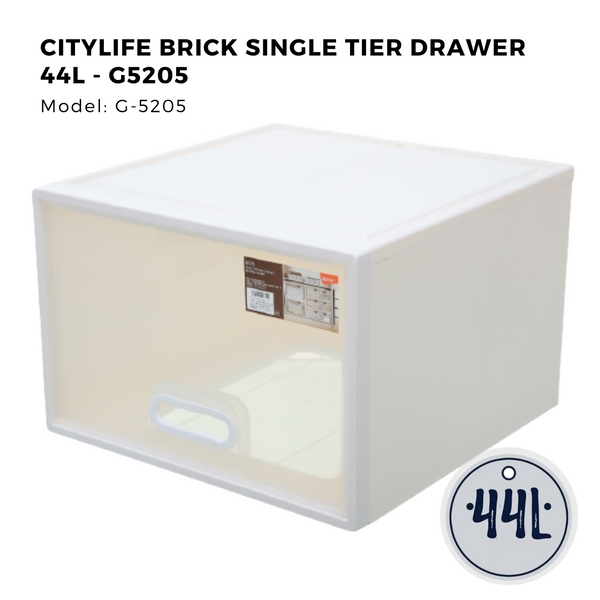 Brick Single Tier Drawer 44L - G5205