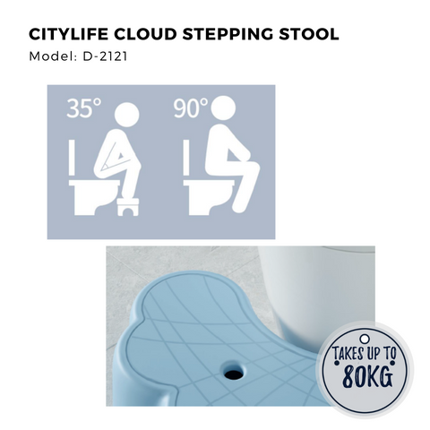 Citylife Cloud Stepping Stool - Takes up to 80kg