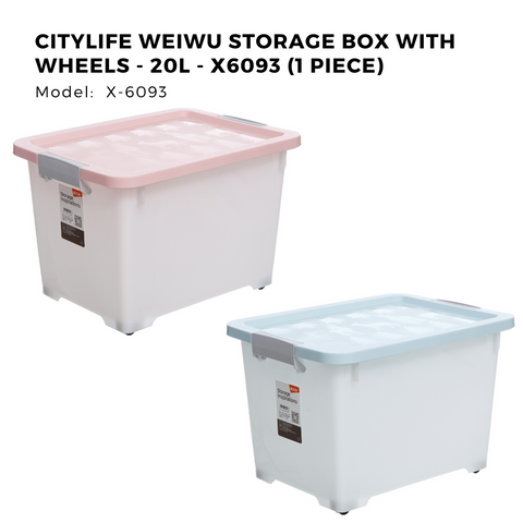 Citylife Weiwu Storage Box with Wheels - 20L - X6093 (1 Piece)