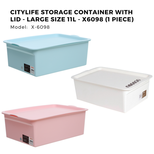 Citylife Storage Container with Lid - Large Size 11L - X6098 (1 Piece)