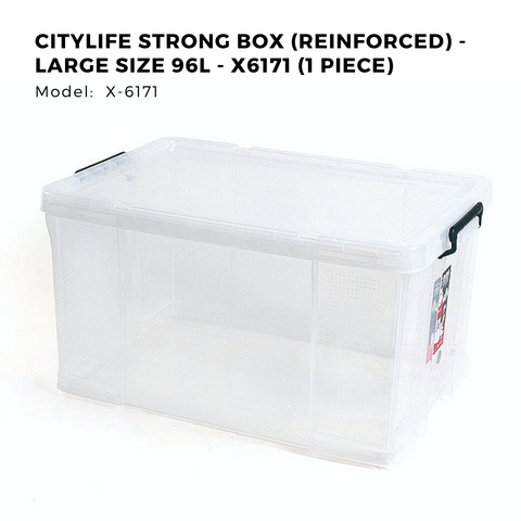 Citylife Strong Box (Reinforced) - Large Size 96L - X6171 (1 Piece)