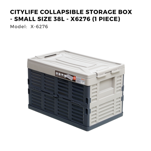 Citylife Collapsible Storage Box - Small/Large Size 38L/68L - X6276/X6277 (1 Piece)