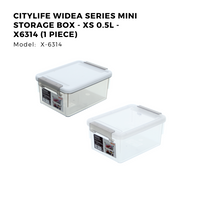 Citylife Widea Series Mini Storage Box - XS 0.5L - X6314 (1 Piece)