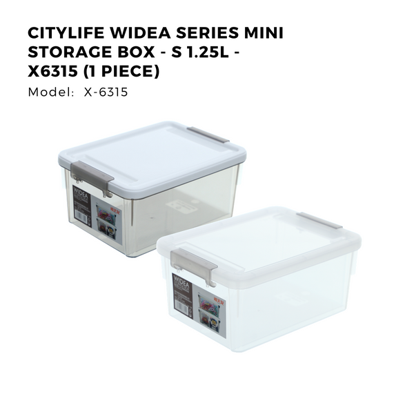 Citylife Widea Series Mini Storage Box - S 1.25L - X6315 (1 Piece)