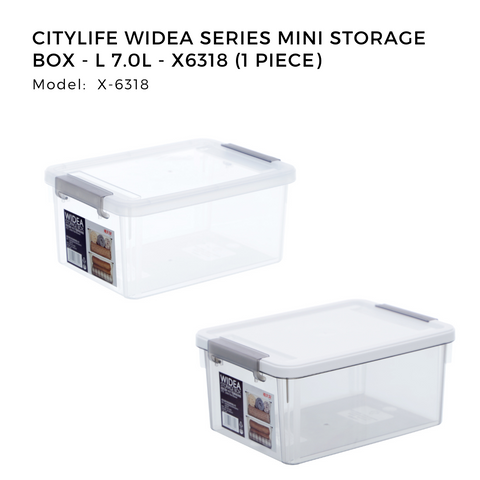 Citylife Widea Series Mini Storage Box - L 7.0L - X6318 (1 Piece)