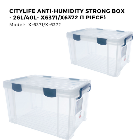 Citylife Anti-humidity Strong Box - 26L/40L- X6371/X6372 (1 Piece)