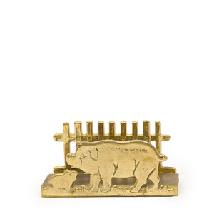 Vintage Brass Letter Holder