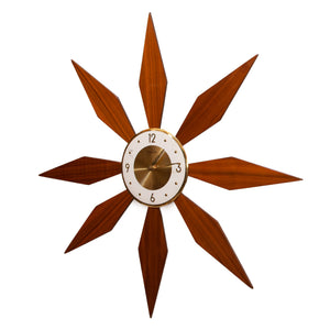 1960's  FORESTVILLE  SUNBURST CLOCK