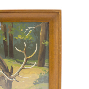 "Vintage Paint By Number painting "" Reindeer """