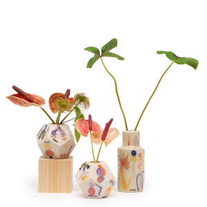 Small Geometric Bud Vase 〈Gold〉