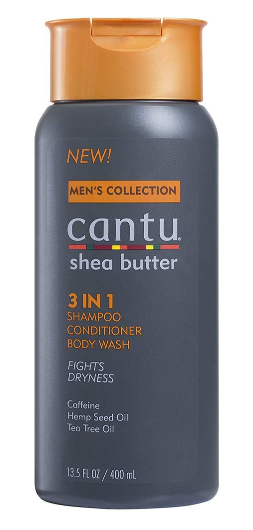 Cantu Bath & Beauty Cantu Mens Collection 3-in-1 Shampoo Conditioner Bodywash 400ml/13.5 FL Ounce