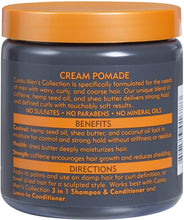 Load image into Gallery viewer, Cantu Haircare Cantu Shea Butter Mens Collection Cream Pomade Strong Hold, Soft Touch 8oz/227g