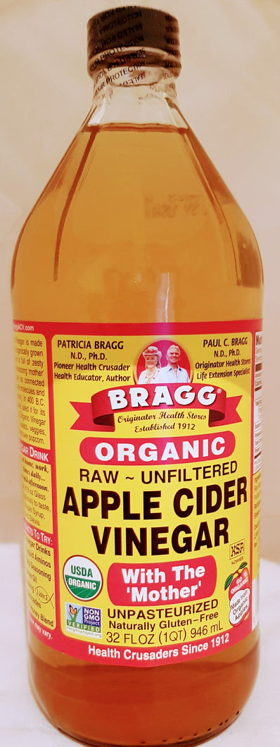 Lions Mane Enterprises Ltd Bath & Beauty Bragg Organic Raw Unfiltered Apple Cider Vinegar with The Mother, 32 Fl oz (1 Quart) 946ml