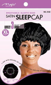 "Magic Collection Haircare Magic Collection Breathable Satin Sleep Cap X-Large 21"" No 2122"