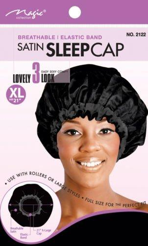 Magic Collection Haircare Magic Collection Breathable Satin Sleep Cap X-Large 21