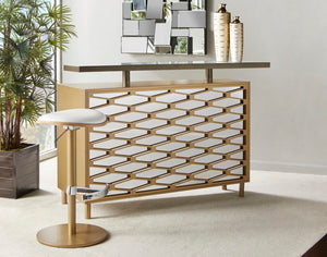 The Gianna freestanding bar from Elite is a perfect choice to create your own cool bar .