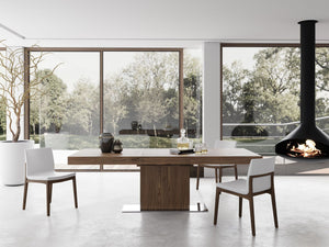 The Astor extendable dining table from Modloft is the perfect solution for everyday and entertaining table use.