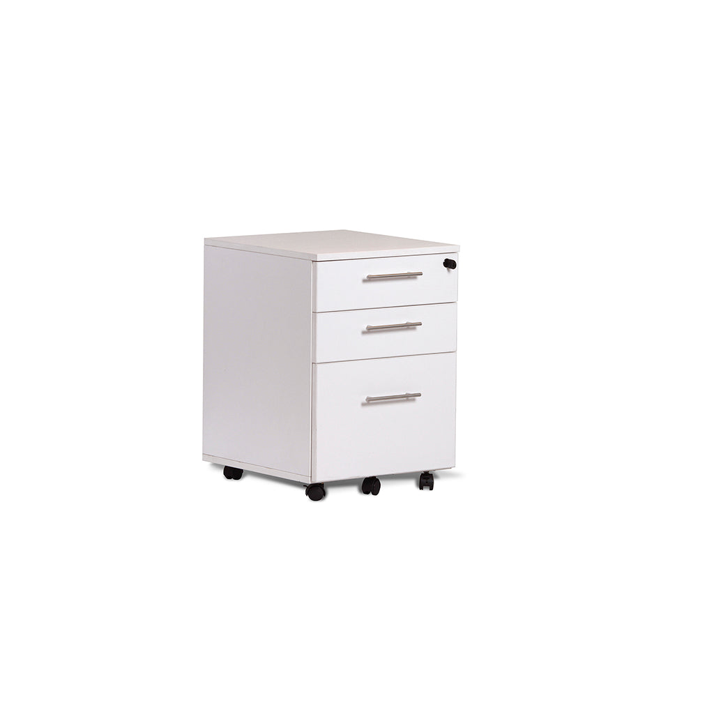 EURO 100 3 DRAWER MOBILE PEDESTAL FILE CABINET