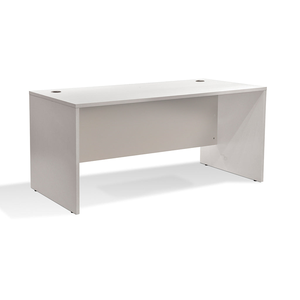 "EURO 100 63"" MANAGER'S COMPUTER WHITE DESK"