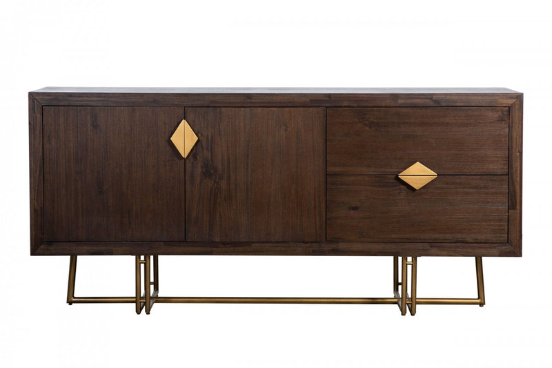 Nolte - Glam Black Zebrawood and Gold Buffet
