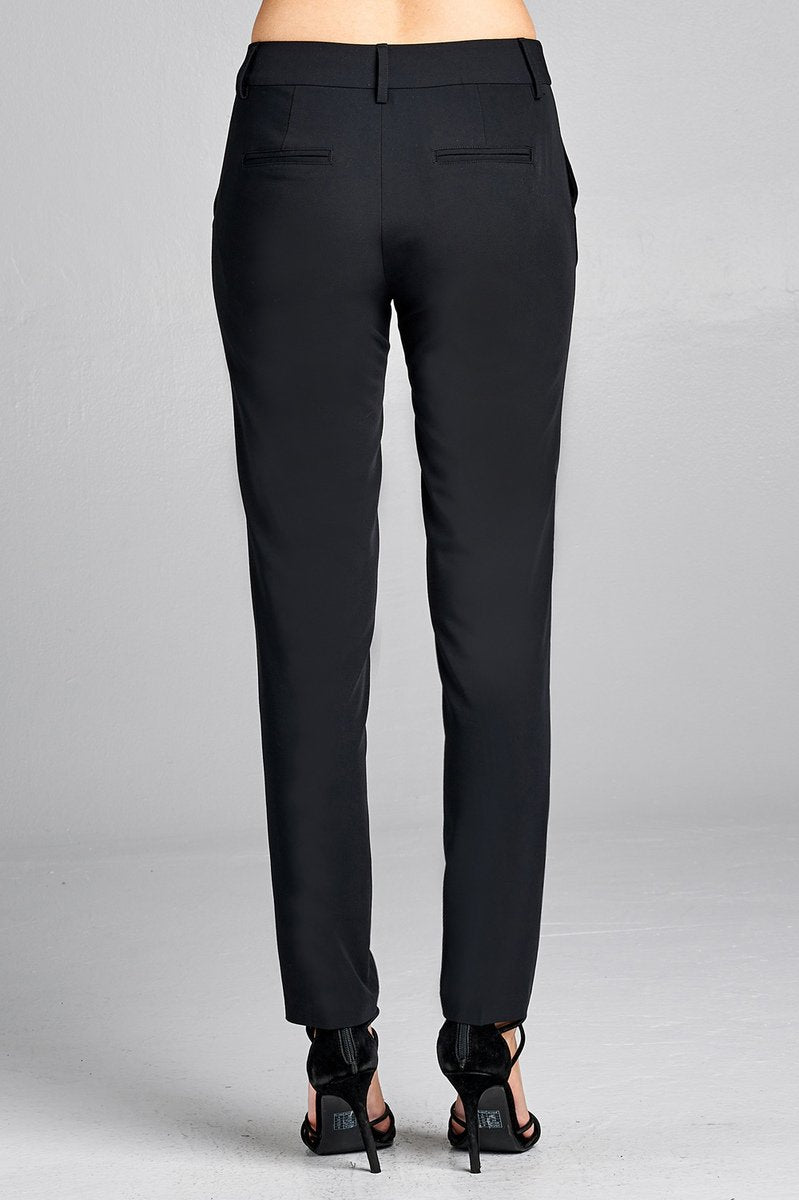 Caress Classic Woven Pants (Juniors) - Caress Boutique LLC