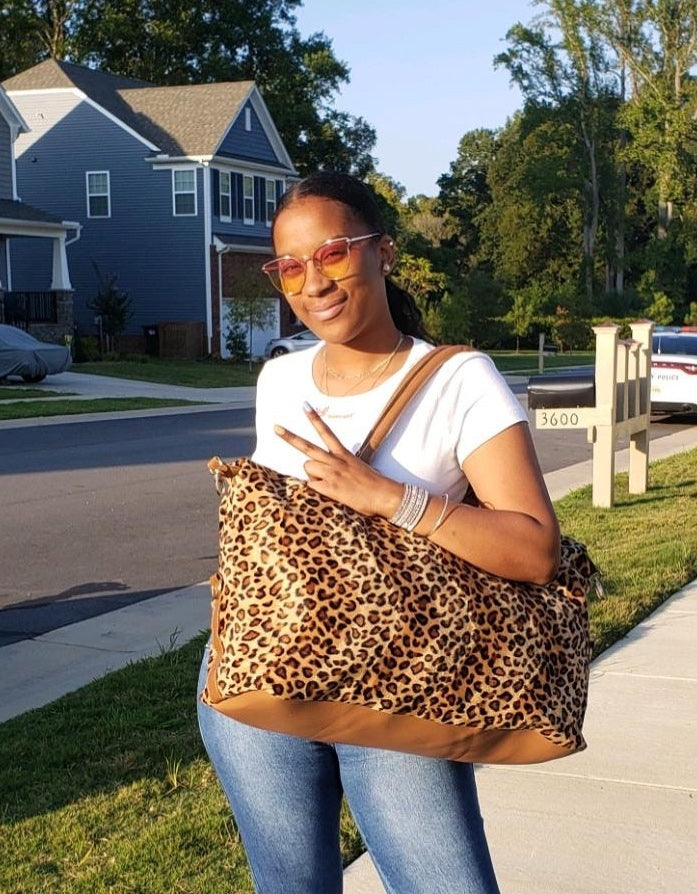 The Leopard-print Weekender Bag
