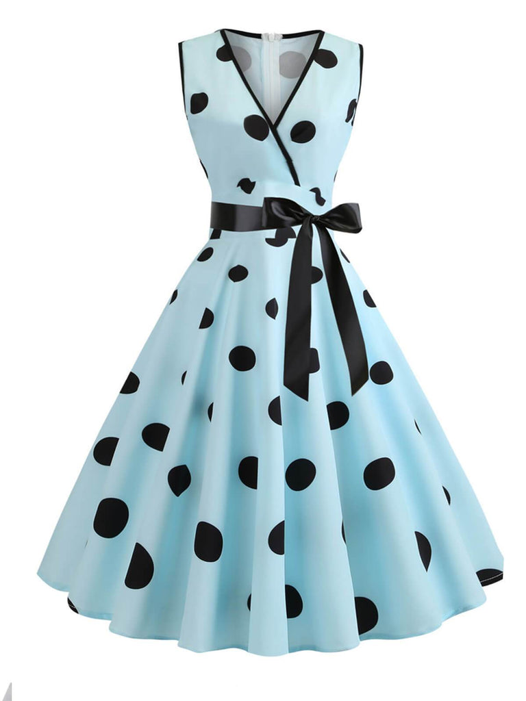 1950ER DOT BOW VINTAGE SWING KLEID