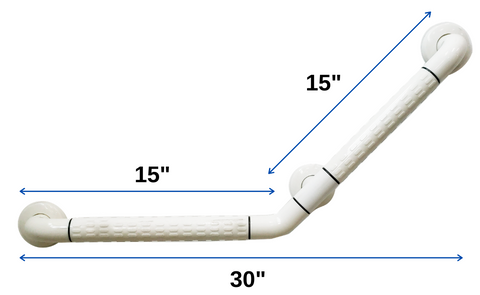 Angled Grab Bar measurement