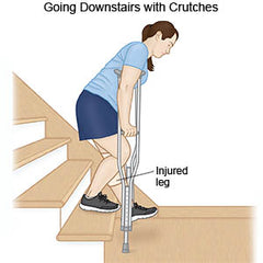 Crutch Instruction - Going Downstairs with crutches